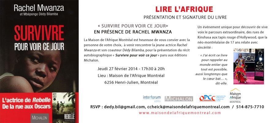 La Maison de l'Afrique Montréal - Activité littéraire