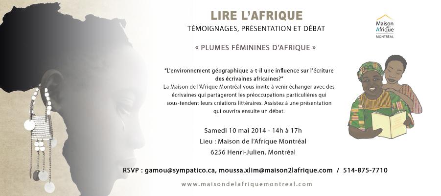 Activités littéraires - La Maison de l'Afrique Montréal