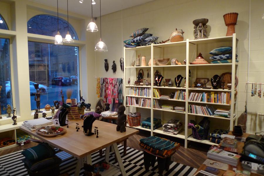 Boutique de la Maison de l'Afrique Montréal